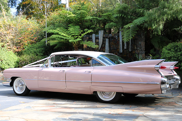 4 Door 1959 Sedan De Ville Cadillac Hire - Gold Star Wedding Car Hire