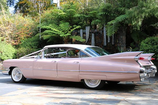 4 Door 1959 Sedan De Ville Cadillac Hire - Gold Star Wedding Car Hire