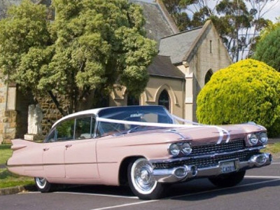 Goldstar Wedding Car Hire - Classic Cadillac Wedding Car Melbourne