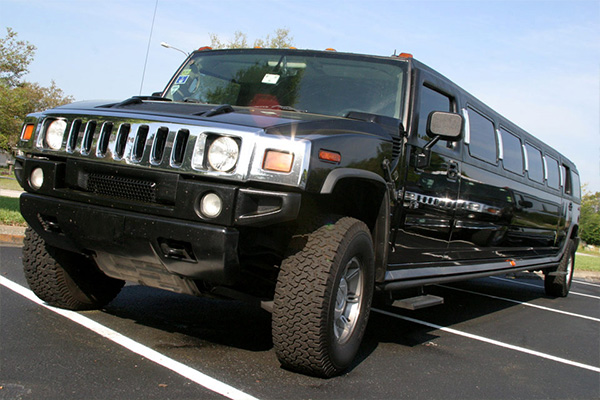 Gold Star Wedding Car Hire - Back Hummer Stretch Limousine Hire Melbourne